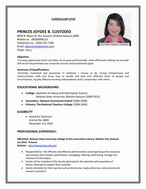 Resume For by Resume Sle Sle Resumes