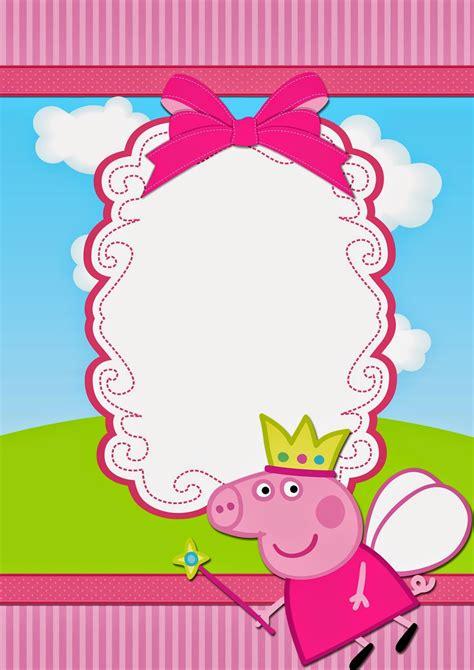 Peppa Pig Birthday Card Template by Peppa Pig Free Printable Invitations Oh My