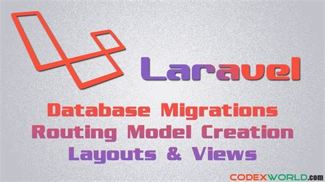 laravel tutorial model laravel basic tutorial database model routing layouts