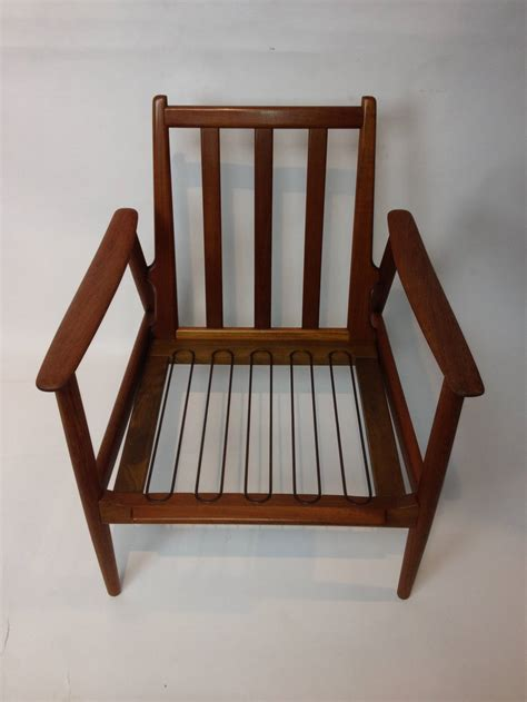 1960s modern teak easy chair at 1stdibs
