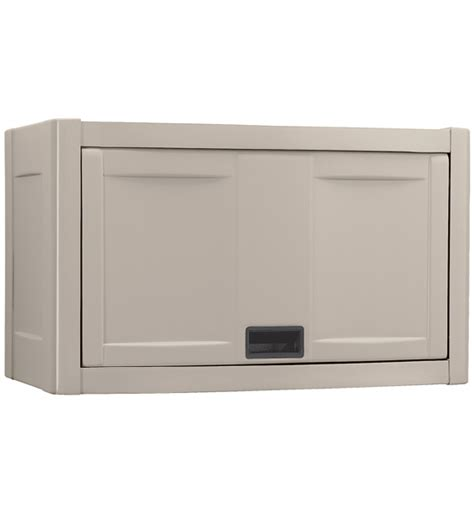 Wall Mounted Storage Cabinets Wall Mount Utility Garage Cabinet Taupe In Storage Cabinets