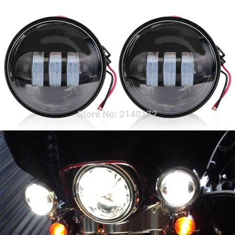 motorcycle led auxiliary lights 4 1 2 inch 4 5 motorcycle led auxiliary passing driving
