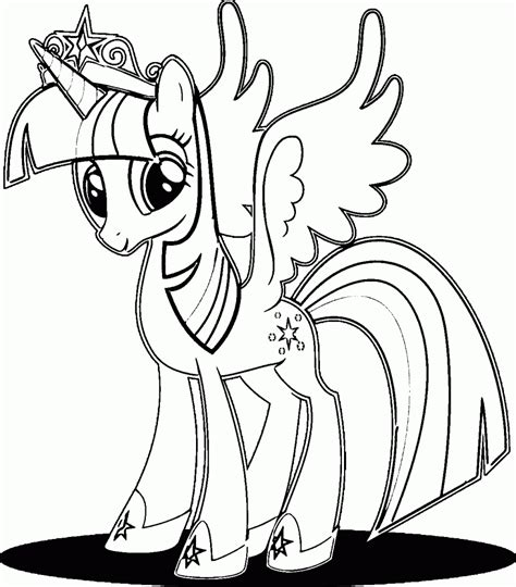 Princess Twilight Sparkle Alicorn Coloring Page Sketch My Pony Coloring Pages Princess Twilight Sparkle Printable