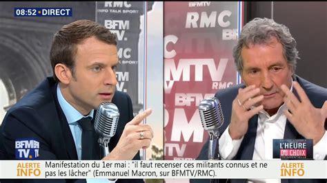 emmanuel macron jean jacques bourdin l heure du choix interview d emmanuel macron par jean