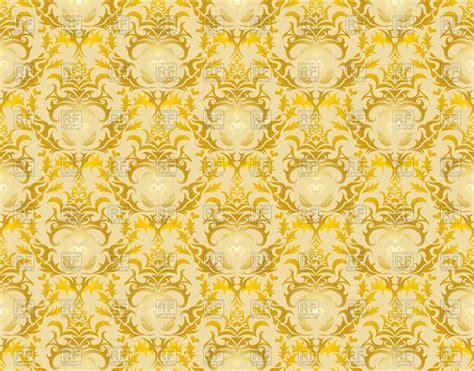 yellow royal pattern damask yellow seamless wallpaper pattern royalty free