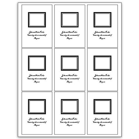 photo card template microsoft word 8 best images of blank card printable template for
