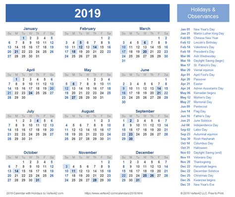 Kalender 2018 And 2019 2019 Calendar Templates And Images