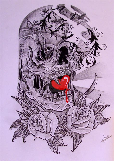 skull half sleeve tattoo designs half sleeve skull by