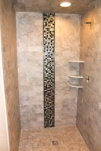 ideas mosaic wall:  interior natural stone tiled shower wall panel with glass mosaic