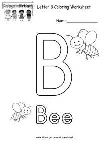 letter b coloring worksheet free kindergarten english