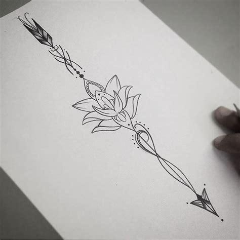 flecha com flor de lotus tatuajes pinterest tattoo