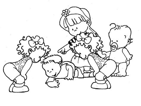 imagenes de niños jugando en grupo para colorear pintando y coloreando dibujos de ni 241 os