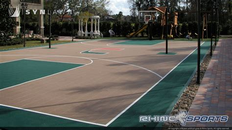 full court basketball court backyard multi sport backyard court system synlawn photo gallery