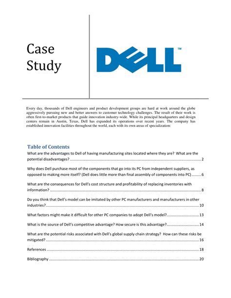 Dell Business Operations Mba Intern Salary by Dell Supply Chain Model Best Chain 2018