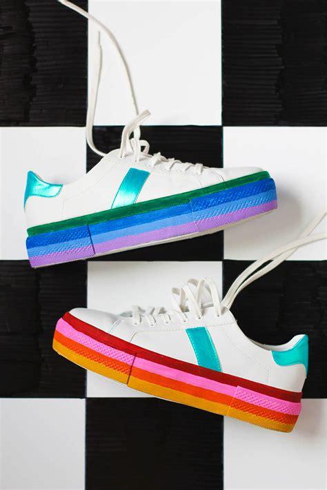 diy platform shoes diy rainbow platform sneakers studio diy