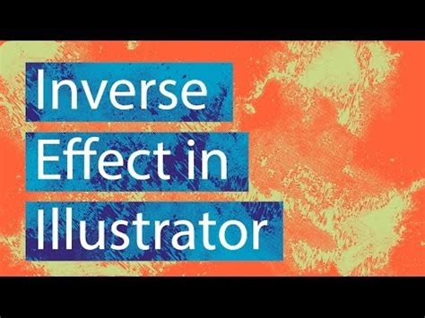 inverse color create a cool inverse color effect in adobe illustrator