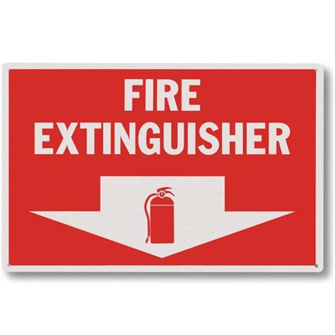 Sign Label Extinguisher triangle inc safety parts signs labels tags rigid plastic