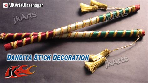 diy how to decorate dandiya sticks for navratri garba jk