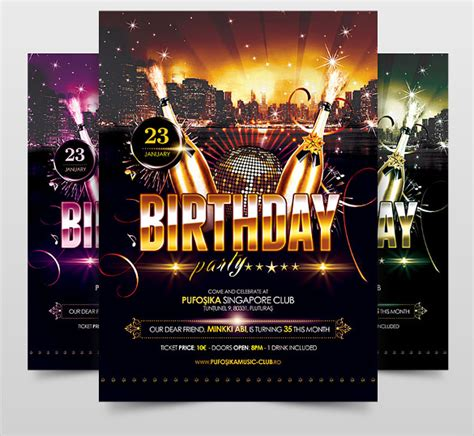 birthday flyers template psd flyer template birthday