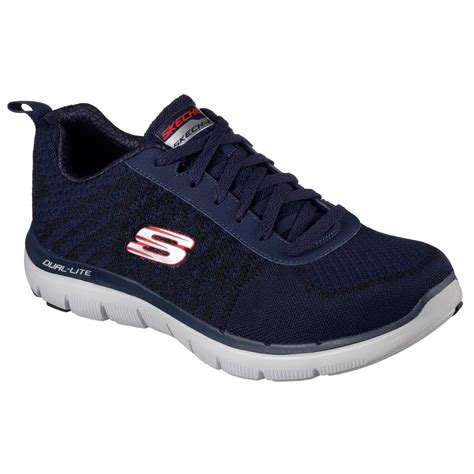mens athletic shoes skechers flex advantage 2 0 golden point mens athletic shoes