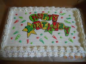 happy birthday sheet cake cake decorating
