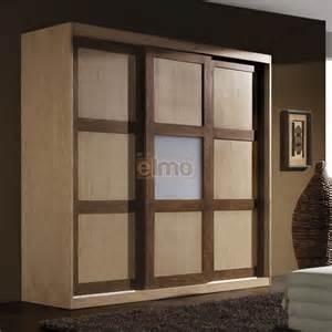 armoire dressing 3 portes coulissantes bois massif bicolore