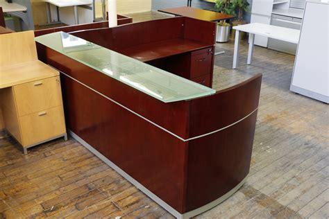 Napoli Reception Desk Mayline Napoli Reception Desk Peartree Office Furniture
