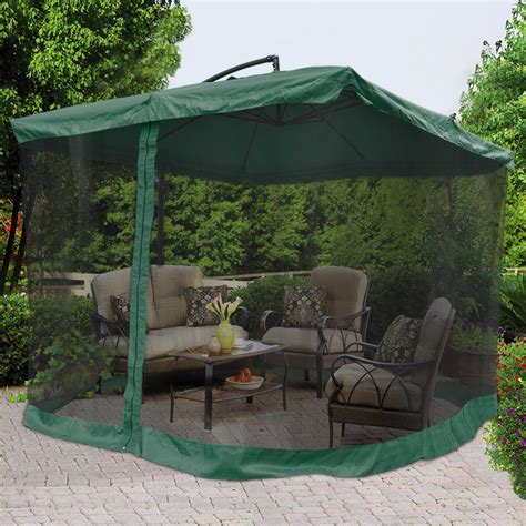 9x9 Square Aluminum Offset Umbrella Patio Outdoor Shade W Outdoor Patio Set With Umbrella