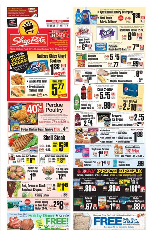 shoprite printable shopping list shoprite coupons and deals for the week of 2 24 13living