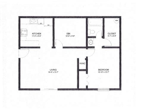 1 bedroom w den floor plan