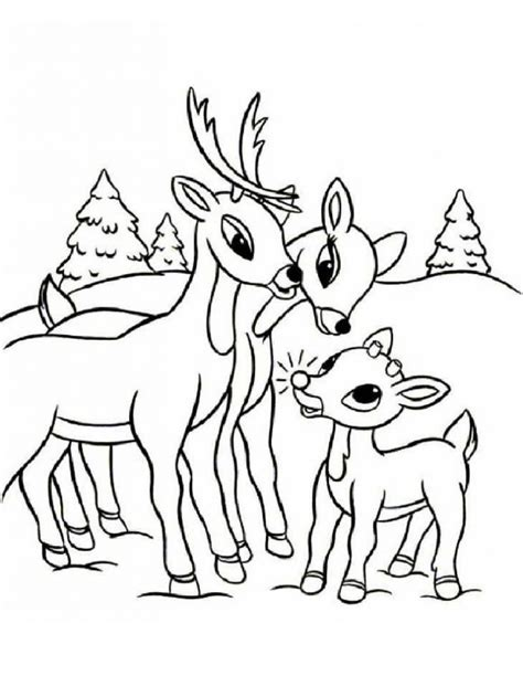 coloring page rudolph reindeer free printable reindeer coloring pages for kids