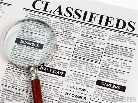 classified section of a newspaper three things that are obsolete in real estate
