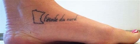 minnesota outline tattoo minnesota with state motto quot l etoile du nord