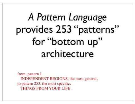 a pattern language citation pattern languages an approach to holistic knowledge