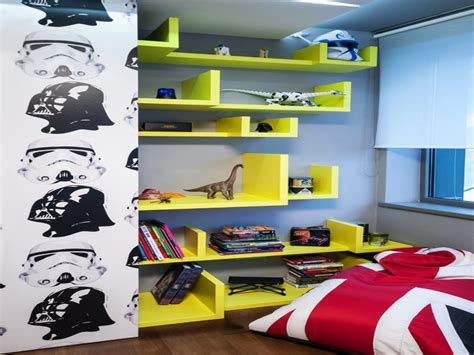 Playroom Ideas For Small Spaces wall shelves for boys room star wars boys bedroom shelves