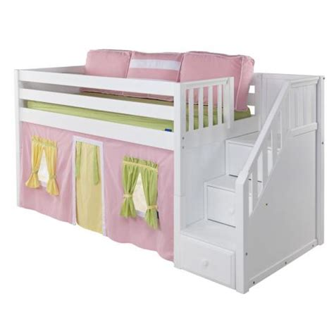 playhouse loft bed maxtrix great playhouse loft bed in natural w stairs panel bed ends 305 1
