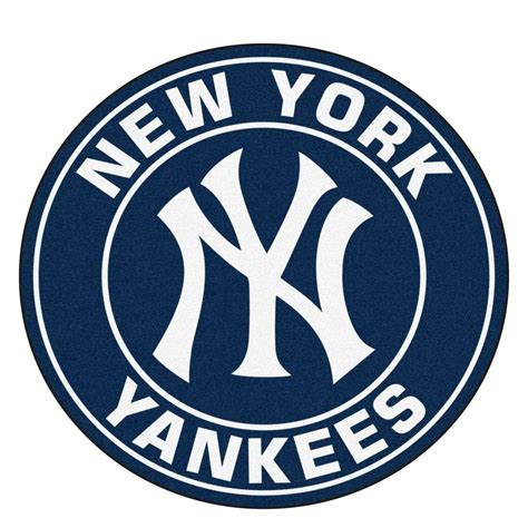 mlb logo rugs fanmats mlb new york yankees navy 2 ft x 2 ft area