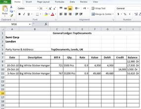 Business Ledger Template Excel Free General Ledger Format In Excel Free Download