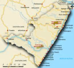 map of south coast south coast map south africa