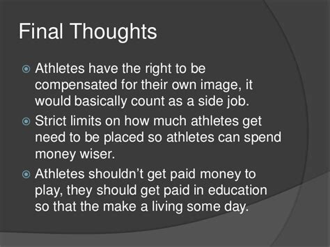 College Athletes Should Get Paid Essay by College Athletes Should Not Be Paid Essay Should College Athletes Be Paid Outline Kichena 1