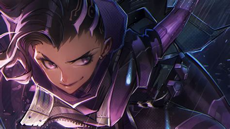 Anime Fanart Wallpaper Sombra Anime Drawing Overwatch Wallpapers
