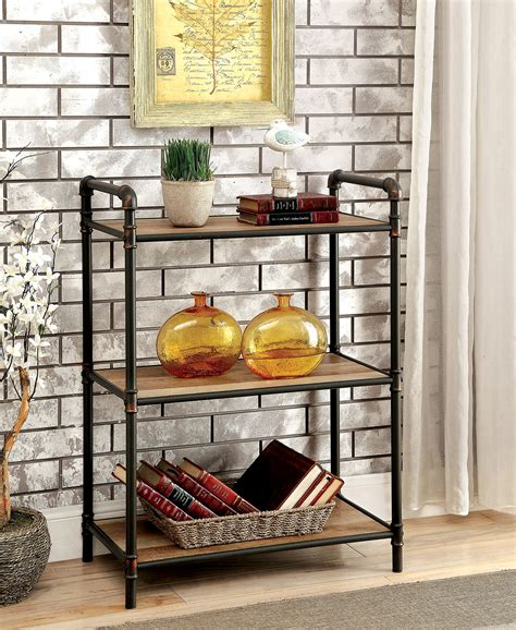 furniture of america cm ac913s small metal bookshelf with