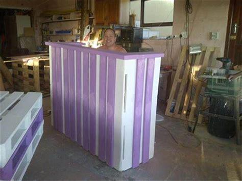 diy reception desk diy pallet desk with style shelves