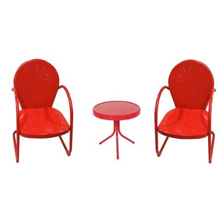 Metal Tulip Chairs For Sale - 3 retro metal tulip chairs and side table