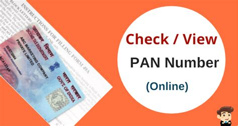 Pan Card Search By Pan Number With Address How To Check My Pan Card Details How To