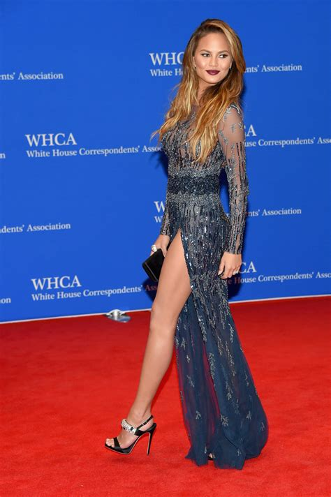 chrissy teigen in zuhair murad chrissy teigen in zuhair murad best of 2015 red carpet