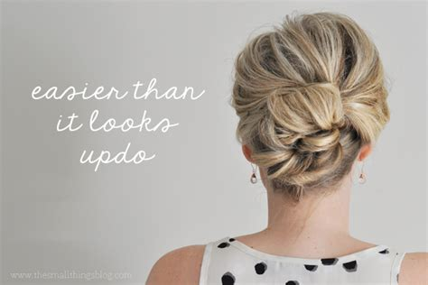 make uodo thin hair easier than it looks updo tutorial the small things blog