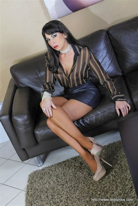 black couch xxx short black leather pencil skirt brown and black blouse