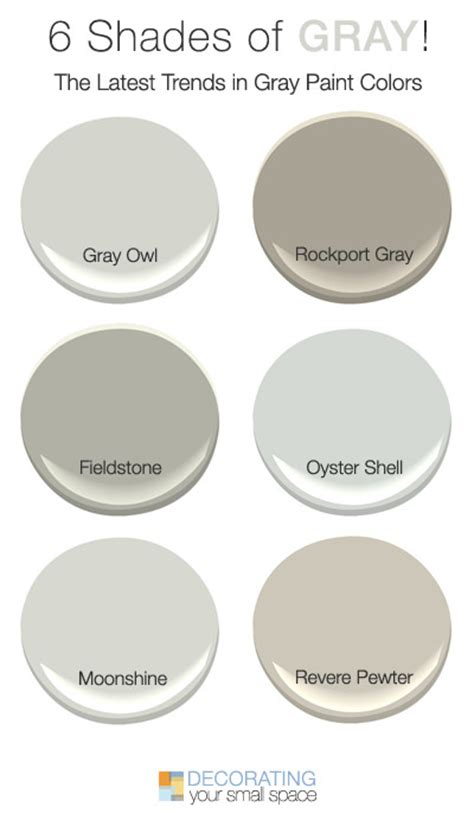 best light grey paint color 6 shades of gray trendy favorites decorating your