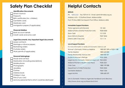 safety plan template domestic violence safety plan worksheet invigorite